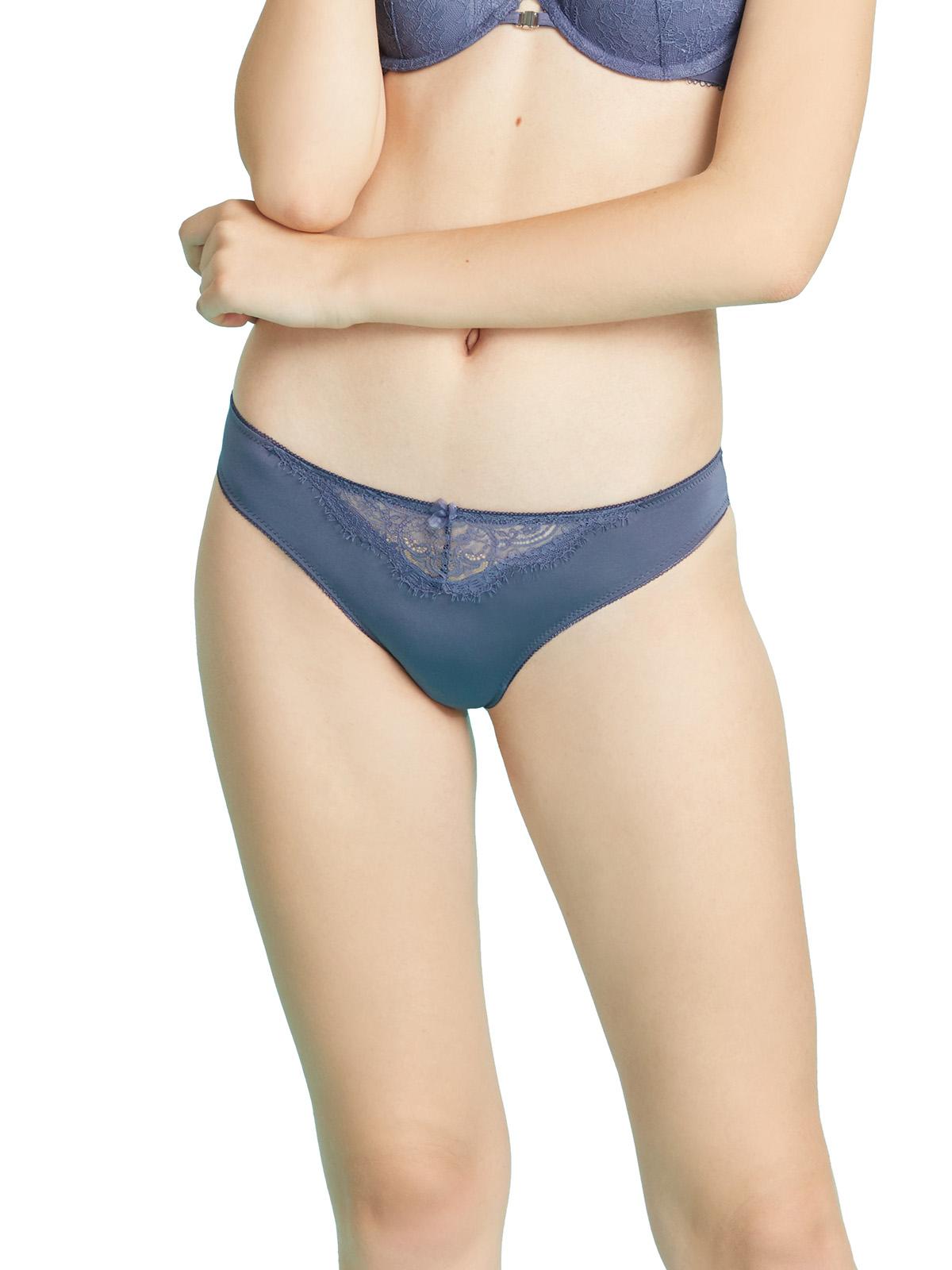 絲滑微纖維蕾絲比基尼內褲